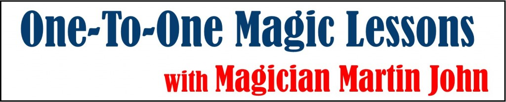 One-to-one Magic Lessons for adults - Learn Magic! | Martin John