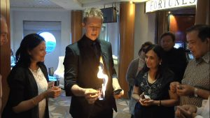 Close-up Magician London Martin John Magic With Fire